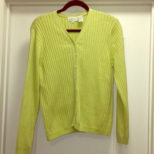 Jeanne Pierre cardigan sweater Large